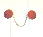 Sports Themed Tallit Clips - Basketballs (Large)