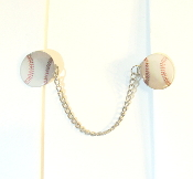 Sports Themed Tallit Clips - Baseballs