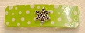 Green Dotted Barrette