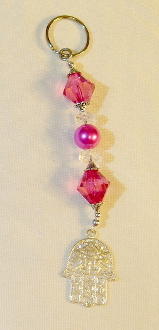 Deep Pink Key Chain