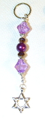 Purple and Brown Crystal Key Chain