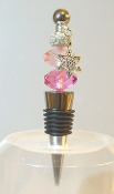 Dark Pink and Lt Pink with Sparkle Bead Wine Bottle Stopper