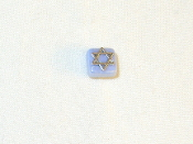 Light Blue Ceramic with Silver Star of David Tie Tack