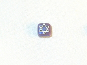 Lavender Ceramic with Silver Star of David Tie Tack