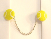 Sports Themed Tallit Clips - Tennis Balls