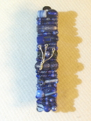 Blue Beaded Mezuzah