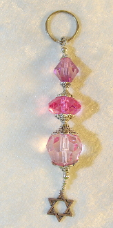 Pretty Pink Crystals Key Chain