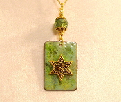 Copper Enamel Necklace - Green Mix