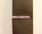 Star of David Tie Bar - Skinny Tie