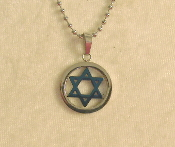 Star of David Necklace - Silver and Blue