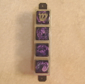 Glass Tile Mezuzah - Iridescent Purple on Black Tile