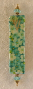 Elegant Mezuzah - Mint Green Sunflowers