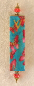 Elegant Mezuzah - Red Butterflies in the Sky