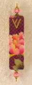 Elegant Mezuzah - Pink Carnation on Magenta
