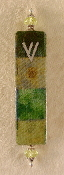 Elegant Mezuzah - Green Shaded Cubes