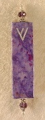 Elegant Mezuzah - Purple and Magenta Batik