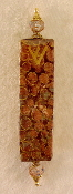 Elegant Mezuzah - Rust Encircled in Gold
