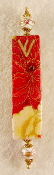 Elegant Mezuzah - Red and Yellow Roses