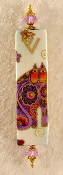 Elegant Mezuzah - Purple Cat