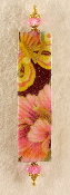 Elegant Mezuzah - Pink Flower, Yellow Butterfly