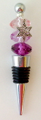 Purple Shades Crystals Wine Bottle Stopper