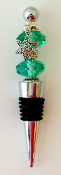 Sea Green Crystals Wine Bottle Stopper