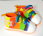 "Rainbow Tie Dye ""All-Stars"" Baby Shoes"