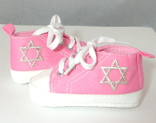 "Pink ""All-Stars"" Baby Shoes"