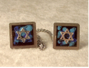 Copper Enamel Tallit Clips - Black
